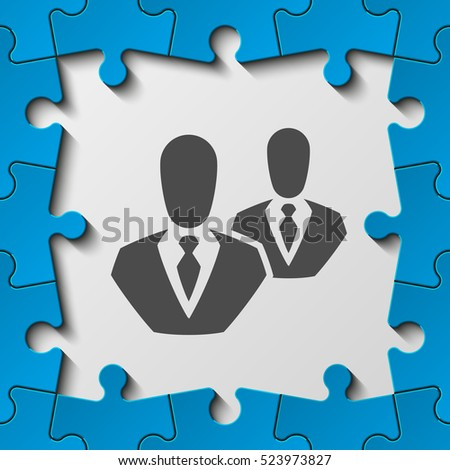 color frame puzzle piece perfect banner stock vector 523973827