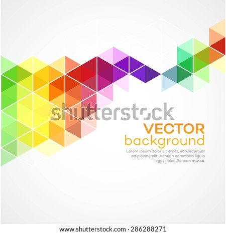 Color geometric background with triangles. Vector illustration EPS 10 - stock vector