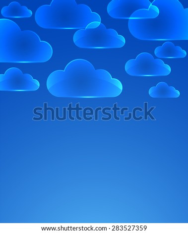 Color glass clouds. Vector background.