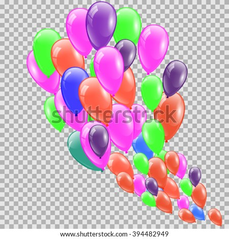 Color Glossy Balloons Vector Illustration - stock vector