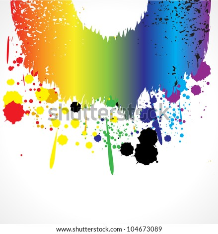 Color grunde paint splashes for background vector eps - stock vector