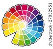 Color guide vector illustration - stock photo