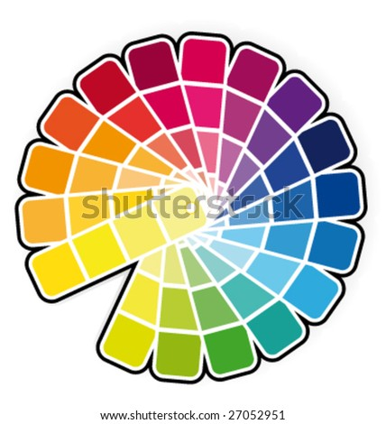 Color guide vector illustration - stock vector