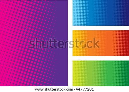 Color Halftones - stock vector