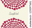 Color hearts decorative elements. Vector - stock vector