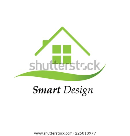 Color house icon logo vector illustration