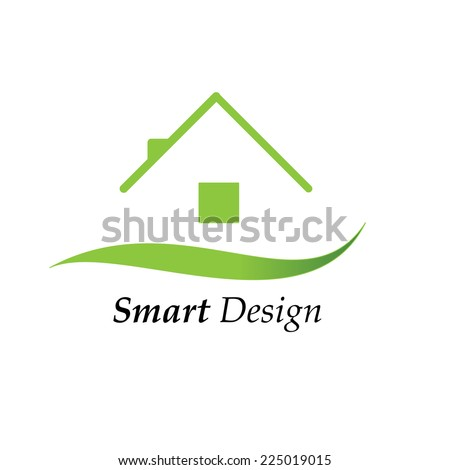 Color house icon logo vector illustration - stock vector
