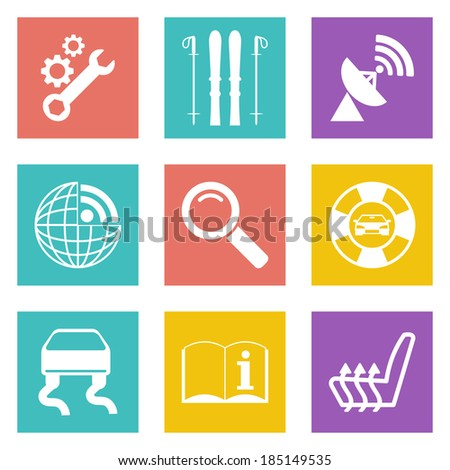 Color icons for Web Design and Mobile Applications set 39. Vector illustration. - stock vector