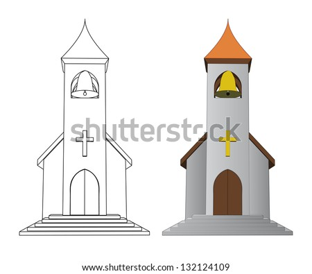 Church Line Drawing Line Drawing Church With