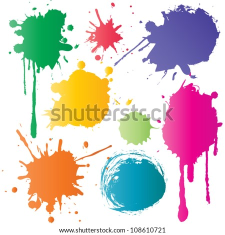 Color ink - stock vector