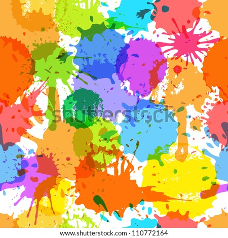 Color ink blots seamless background