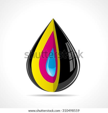 Color ink drop - stock vector