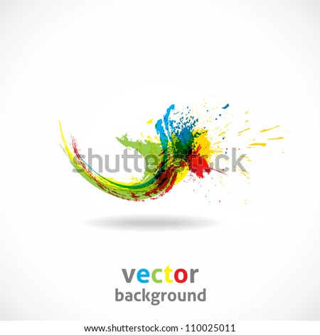 Color Ink Splash. Vector Grunge Background. Abstract wave. - stock vector