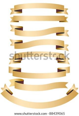 Color isolated ribbons - stock vector