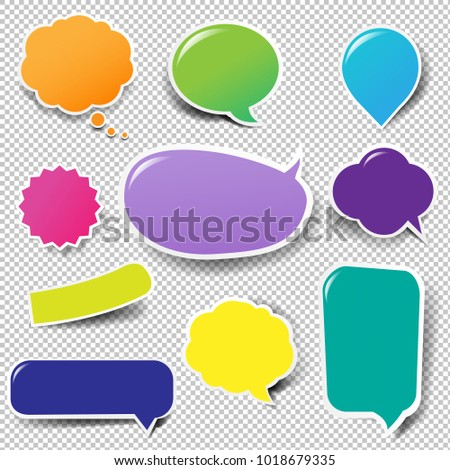 Color Labels Big Set Isolated With Gradient Mesh, Vector Illustration