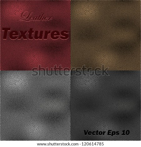 Color Leather Textures - stock vector