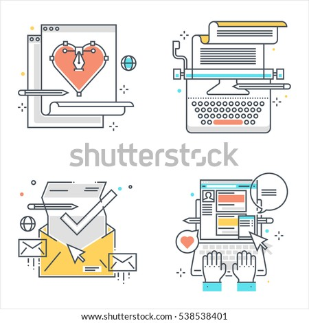 Content writing service vectors