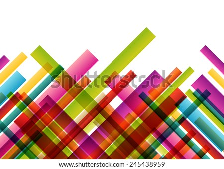 Color lines colorful mosaic abstract illustration background vector - stock vector