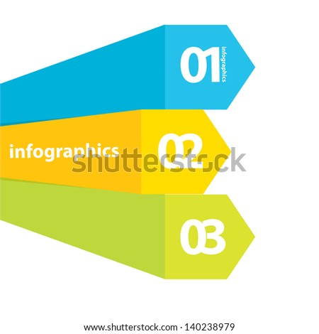 Color modern Design template / can be used for infographics / numbered banners / horizontal cutout lines / graphic or website layout vector