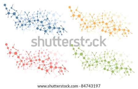 color molecule connection vector - stock vector
