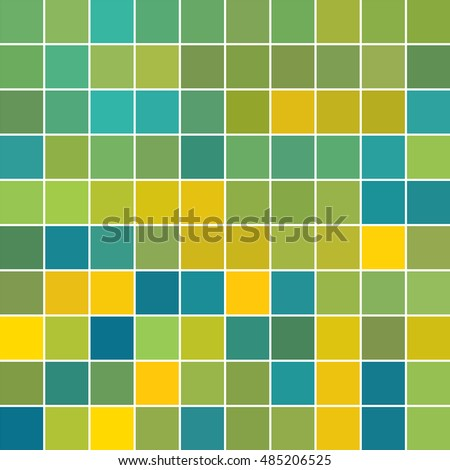 Color Mosaic Blue Yellow Green