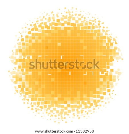 color mosaic circle background (frame) - stock vector