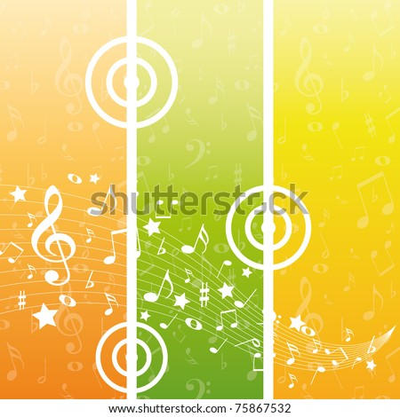 Color music background - stock vector