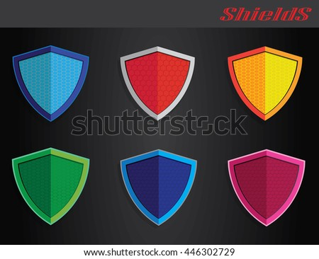 Color on shield
