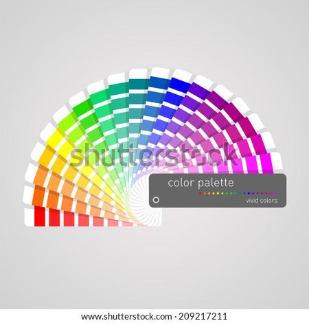 color palette - stock vector