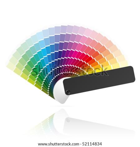 Color palette guide, fan, catalogue. Vector. - stock vector