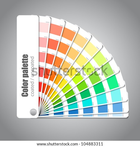 Color palette guide on grey background - stock vector