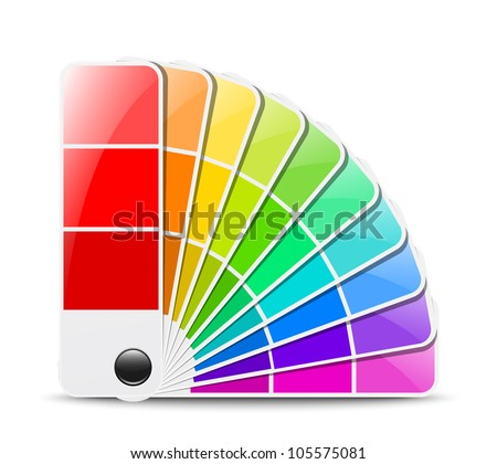 Color palette icon. Vector illustration - stock vector