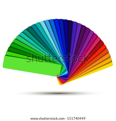 Color palette isolated on white background, color vector samples - stock vector