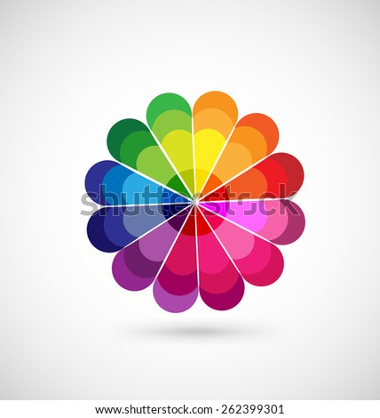 Color palette with vibrant, vivid colors.Vector web background logo template - stock vector