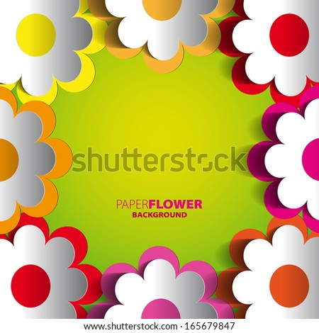 Color paper flowers cutout background eps10 stock vector 165679847 color paper flowers cutout background eps10 vector illustration mightylinksfo Gallery
