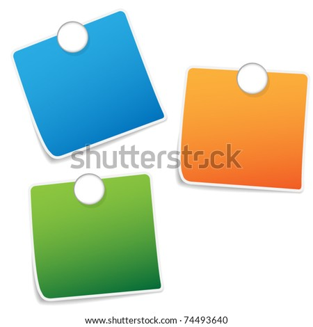 Color papers with modern pin