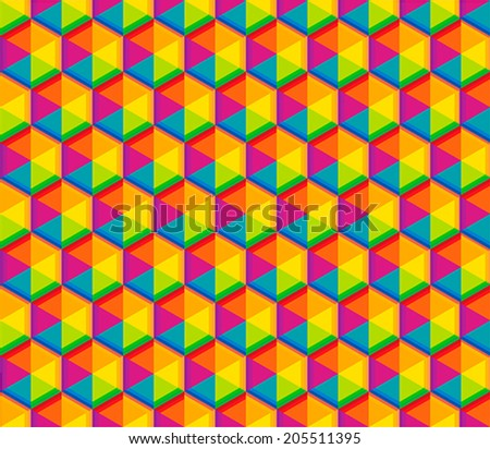 color pattern - stock vector