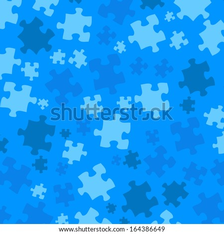 color pattern and puzzle - stock vector