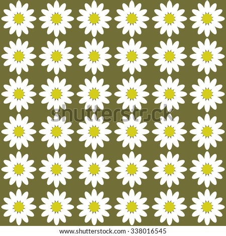 color pattern Daisy flower chamomile