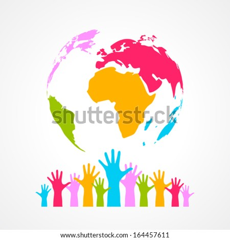 Color planet poster - stock vector