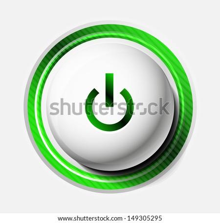 Color power button - stock vector