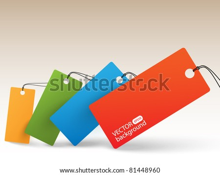 Color price tags - background - stock vector