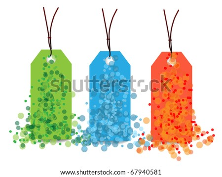 Color price tags with balls