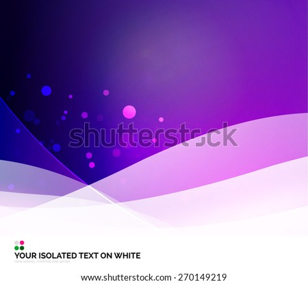 Color purple and light, waves and lines. Abstract background - stock vector