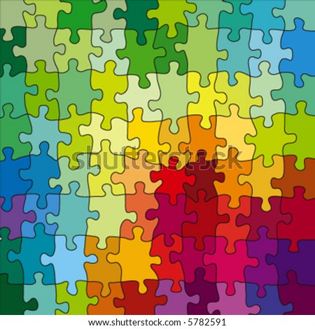 color puzzle, vector illustration - stock vector