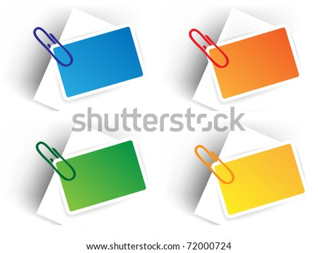 Color sale tags with pin - stock vector