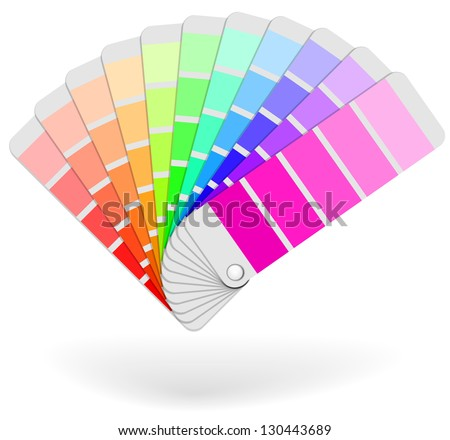 Color sample catalogue sheaf vector icon isolated on white background. - stock vector