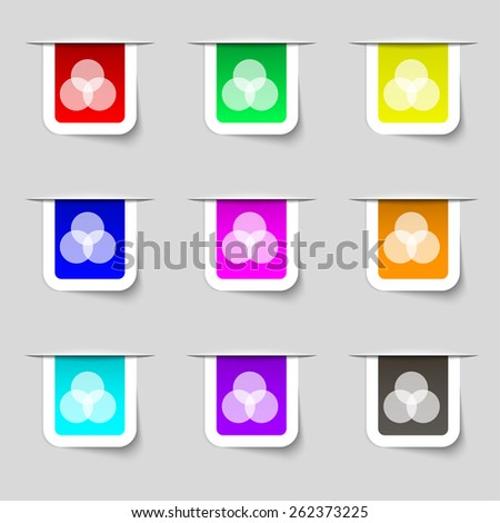 Color scheme icon sign. Set of multicolored modern labels for your design. Vector illustration - stock vector