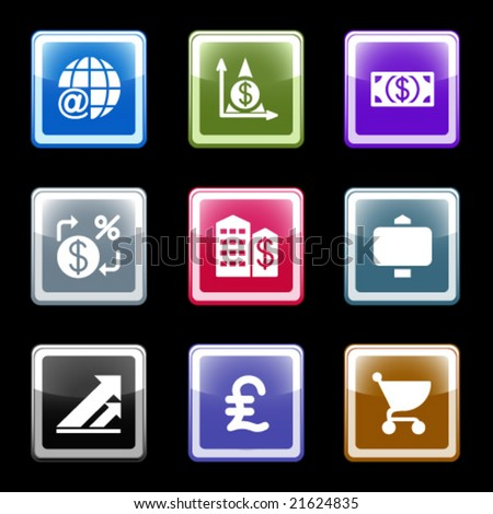 Color screen web icons, set 23 - stock vector