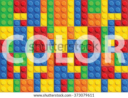 Color - seamless vector pattern of plastic parts - stock vector
